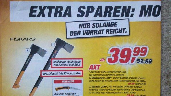 "[lokal] Toom - Fiskars X25 Spaltaxt Bundle ""Top 10 Aktion"""