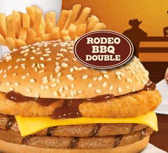 KING des Monats (ab 28.06.11): Rodeo BBQ Double King Menü für 3,99 / Erinnerung Pringles Gutschein