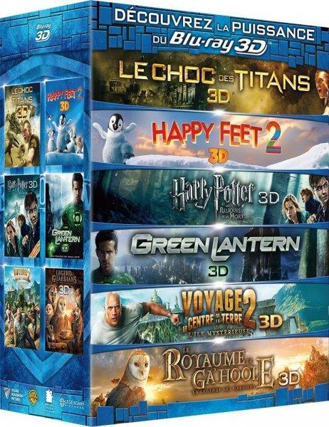 Warner 3D Blu-ray Box (6 Filme) dt. Ton & UT. für 53,59 € @Amazon.fr