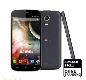 Wiko Darkmoon Dark Blue Android 4.2.2, Quad-Core 1,3 GHz, 4,7 Zoll HD-Display, Dualsim]  @NBB