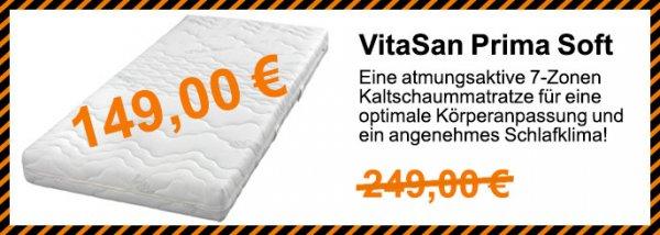 VitaSan Prima Soft Matratze für nur 149€