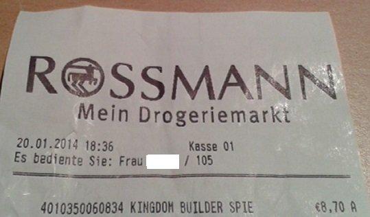 Rossmann (Offline) Kingdom Builder für 8,70€ (mit 10% Gutschein für 7,83€)