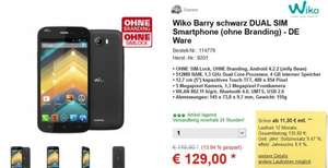 Wiko Barry  - 5 Zoll  Display - Android 4.2.2 - Dual SIm Smartphone - 129 € - Versandkostenfrei.