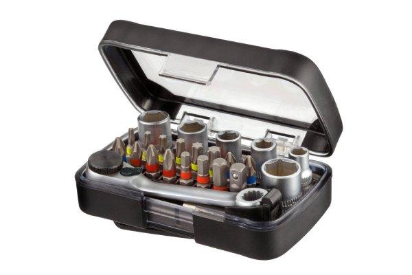 Shockproof Mix-Box 23tlg kleines Bits und Steckschlüssek Set 15,00 Euro voelkner