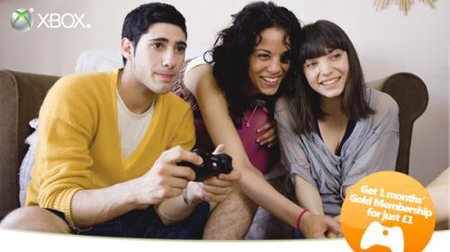 X Monate Xbox LIVE Gold Mitgliedschaft für 1 Euro/Monat
