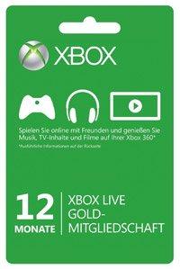 Xbox Live – Gold-Mitgliedschaft für 33,33€ bei Amazon.de (Vergleichspreis: 39€)
