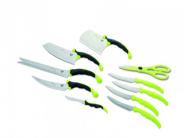 Küchenmesser Set 10-teilig Pro V Contour grün