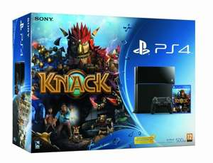 PS4 + Knack Bundle im Lager und bestellbar bei AMAZON.CO.UK