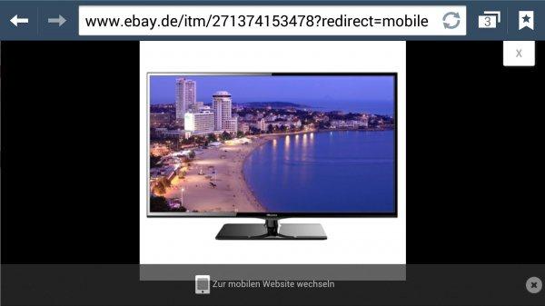 """Ebay.de deltatecc Hisense LTDN50K366 126cm 50"""" LED Fernseher Smart TV 400 Hz DVB-T/C/S PVR für 499€"""