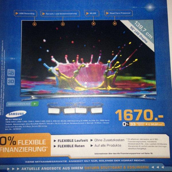 Samsung UE 55 F 8090 Für 1670€, Saturn Stuttgart, lokal