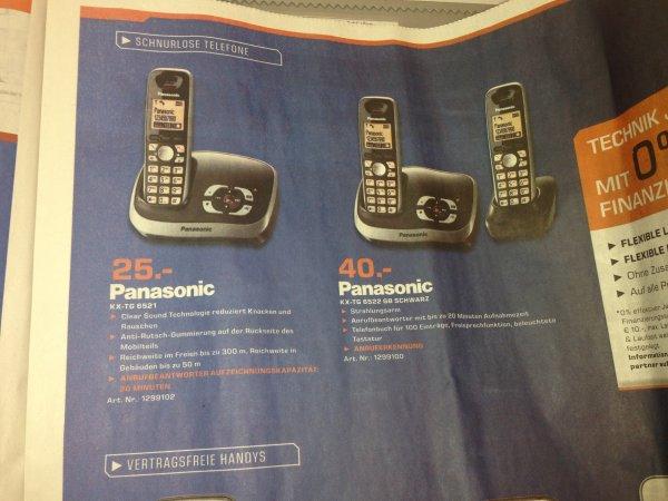 Panasonic KX TG 6521 für 25€ und KX TG 6522 für 40€, lokal, Saturn Stuttgart