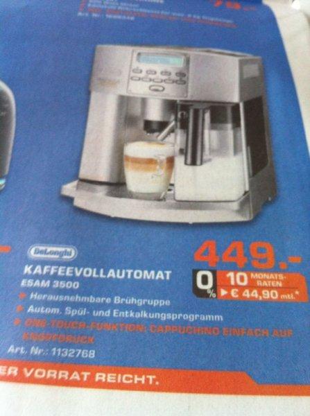(lokal? ) Saturn Herford - Delonghi esam 3500 Kaffeevollautomat für nur 449€