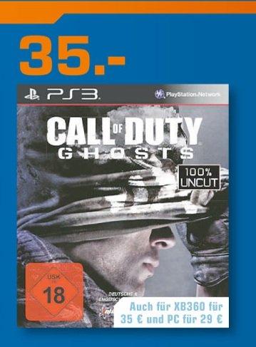 Call of Duty Ghosts PS3 35€ LOKAL[Saturn Bochum,Witten & Hattingen]