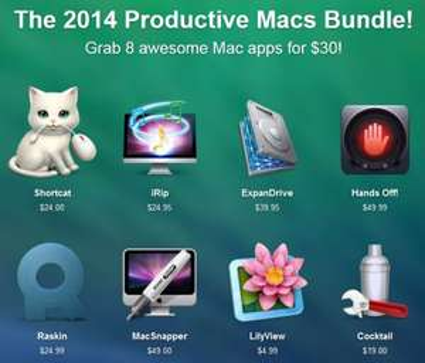 (MAC) Das 2014 Productive Macs Bundle mit 9 Apps für 22,15€