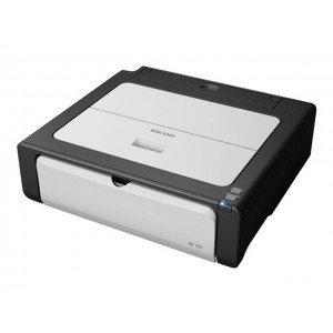 Ricoh SP100e: Kompakter Laserdrucker zum Sparpreis - durch Gutschein zu 39,98 Euro! Am besten für Wenig-Drucker geeignet.