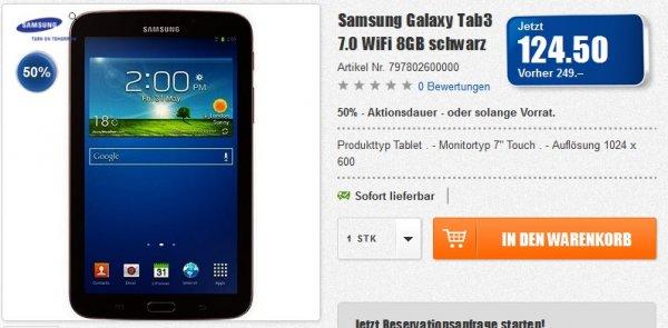 [Lokal CH] Samsung Galaxy Tab3 7.0 WiFi 8GB schwarz ca. 102 €