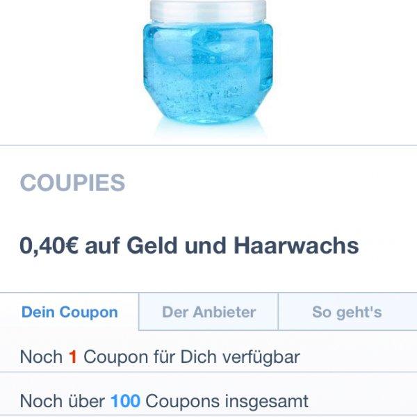 0,40€ Cashback beim Kauf eines beliebigen Haargels oder Wachs