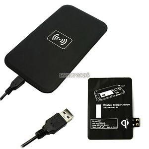 [China] Schwarzes Qi Wireless Ladepad und Receiver Samsung Galaxy S3,S4,Note 2