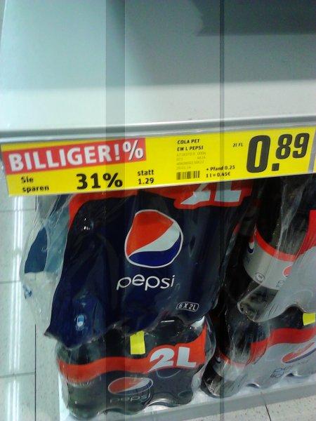 [REWE] Pepsi 2L = 89ct