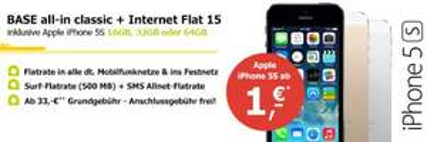 [BASE] iPhone 5S 32GB 35€ mtl.
