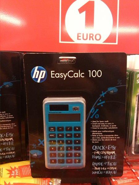 [LOKAL? / EUROSHOP HH] HP EASYCALC 100 Taschenrechner