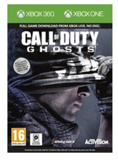 [Amazon.co.uk] Call of Duty Ghosts Digital Download Code Bundle für Xbox One & Xbox 360 (beide Versionen enthalten) für 40,54 € inkl. Versand
