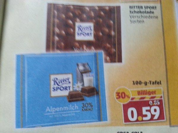 Ritter Sport Tafel Schokolade 100 g bei Penny ab 27.01.2014
