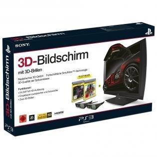 Sony Computer Entertainment 3D Bildschirm + 2x 3D Brillen (inkl. Killzone 3 + Gran Turismo 5 USK