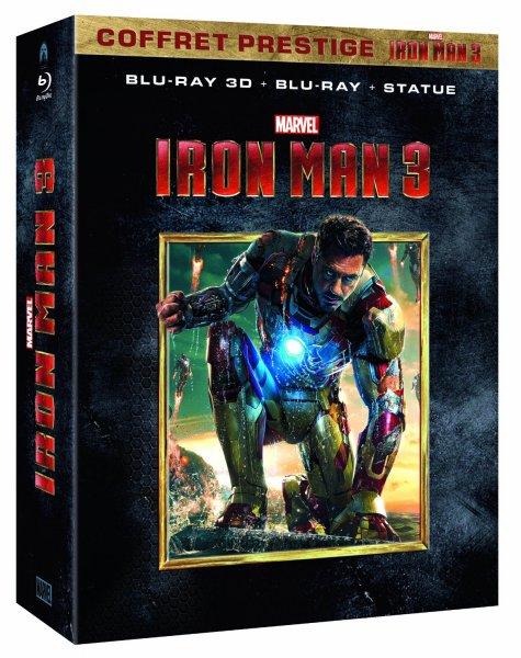 Exklusiv bei [Amazon.fr] Iron Man 3 Blu-ray + Blu-ray 3D + Iron Man Statue 60,90€ inkl. Versand