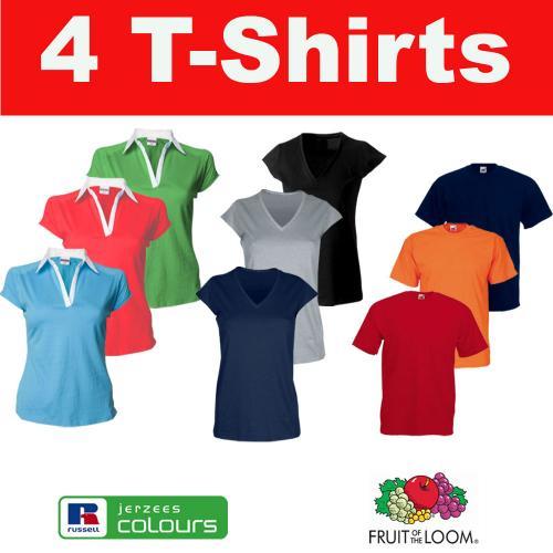ebay: 4er Set Russell Damen T-Shirts Jerzees Shirt S M L XL EUR 8,99