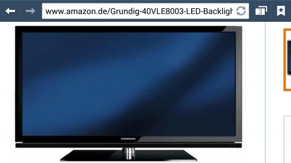 Amazon.de 369€ Grundig 40VLE8003 BL 101,6 cm (40 Zoll) 3D LED-Backlight-Fernseher, EEK A (Full HD, 400 Hz PPR, DVB-T/S/C, CI+, SmartTV) schwarz