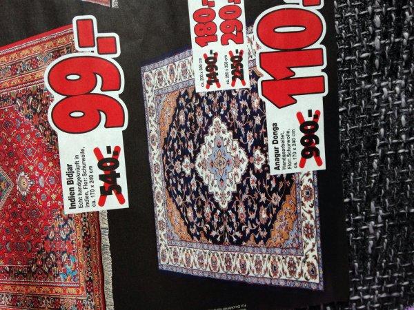 (Lokal tratex dormagen) Teppich handgearbeitet anagur donga 110€ statt 990€