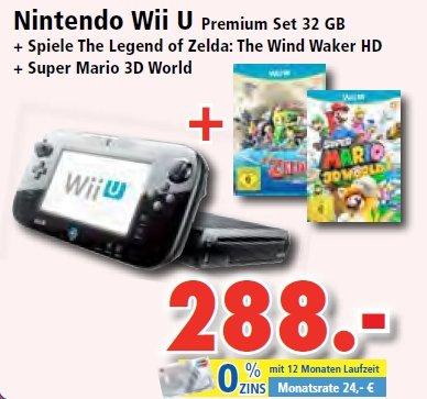 [lokal, Expert Lermann] Wii U Premium schwarz + Wind Waker HD & Super Mario 3D World für 288€