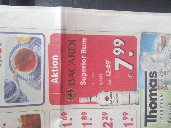 Bacardi 0,7l Flasche [lokal Bremen]