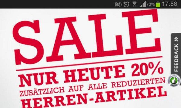 20% auf alle reduzierten Herren-Artikel im Breuninger Online Shop