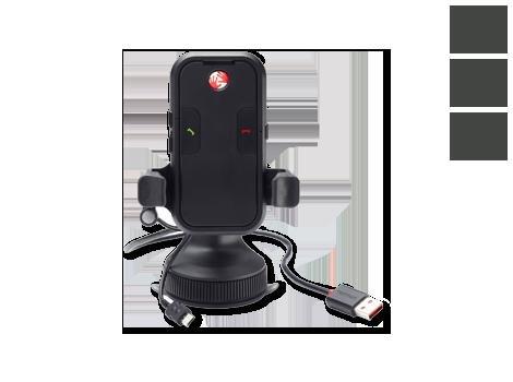 TomTom Universalhalter mit Freisprechanlage (Mikrofon+Lautsprecher) und Micro-USB-Ladegerät