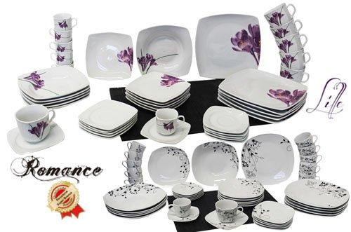 Porzellan Service Kombiset 42 Teile Geschirr - zwei Farben @Ebay - sehr guter Kurs 29,90 €