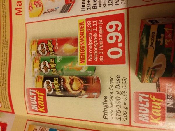 """(evtl. """"nur"""" Lokal - """"Hit""""  Warendorf ) Pringles bei Abnahme von 3 für je 0,99€"""