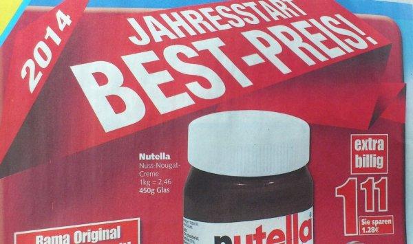 *Update* (Offline) Edeka Märkte im Nordwesten: Nutella 450g Glas für 1,11€ (ab 03.02.)