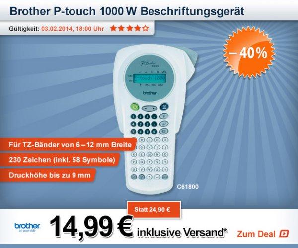 """Brother™ - Beschriftungsgerät """"P-touch 1000W"""" ab €14,70 [@Digitalo.de]"""