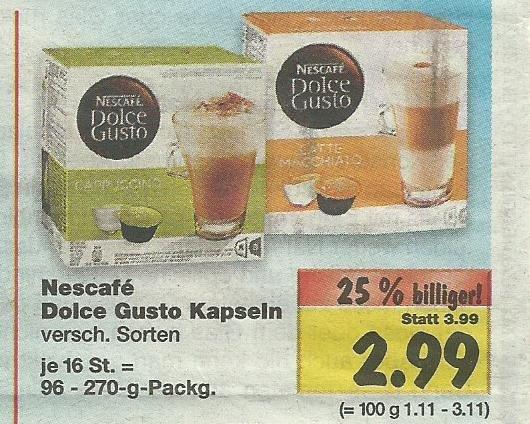 Dolce Gusto Kapseln 2,99€ Kaufland (Saarland)
