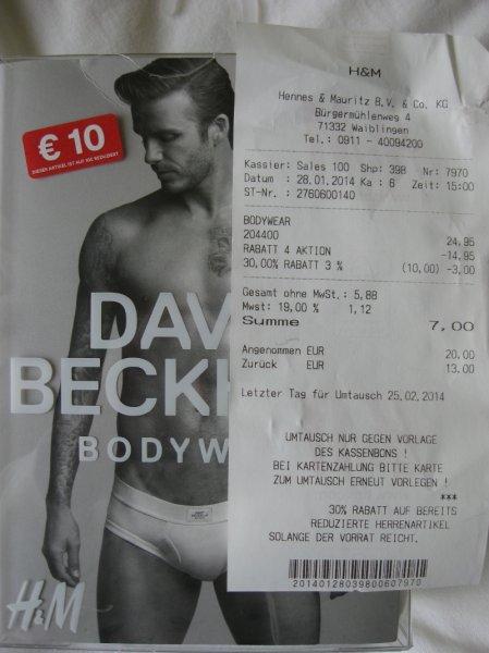 H&M David Beckham 3er-Pack Slips lokal WN