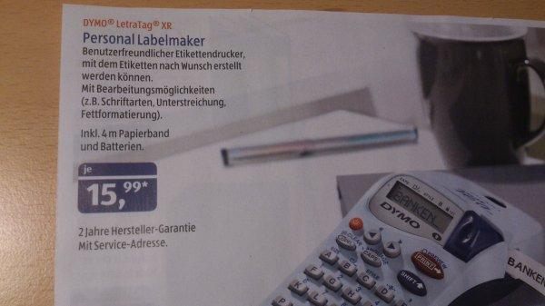 "[Aldi Süd] Beschriftungsgerät ""Dymo Letra TAG XR"" für 15,99€ (ab dem 06.02.2014)"