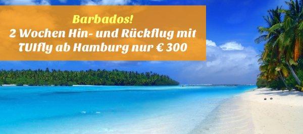 Barbados! 2 Wochen Hin- und Rückflug mit TUIfly ab Hamburg nur € 300