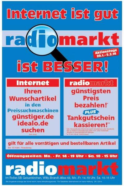 Radiomarkt!  Internetpreis + Tankgutschein