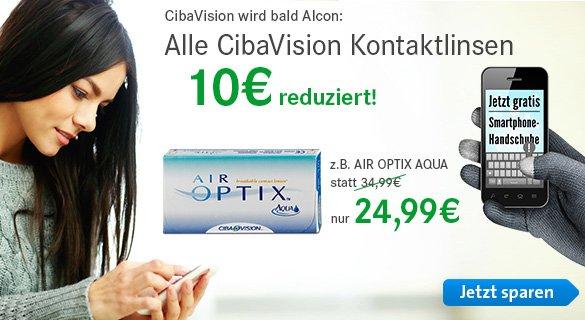 CibaViso Kontaktlinsen => 10€ sparen / nur Heute !