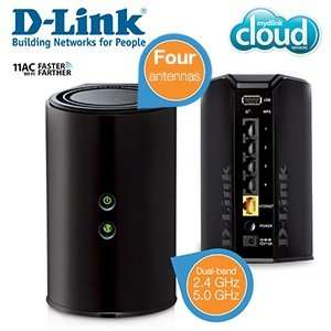 D - Link Wireless AC 1200 Dual-Band -Router mit 4 Gigabit-Ports bei ibood.de