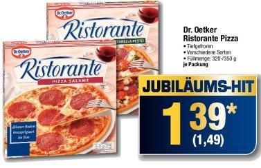 Dr. Oetker Ristorante Pizza nur 1,49€ bei METRO bis 12.02.
