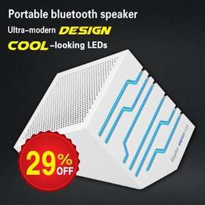 [EasyAcc] Neue Aktion mit Gutscheincode: Energie Cube Tragbarer Bluetooth Lautsprecher für 19,99 Euro
