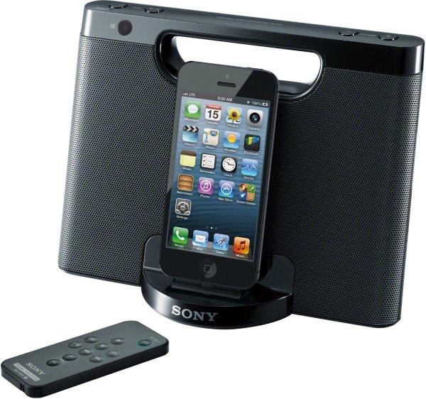"Sony™ - Apple iPod/iPhone Docking-Lautsprecher ""RDP-M7iP"" (Schwarz) [Refurbished] ab €28,48 [@Sony.de]"